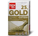 Gold C2 Adhesive for outdoors tiles